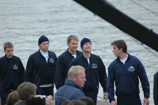 Nethercott (pictured, far left), with his 2005 Oxford crew.