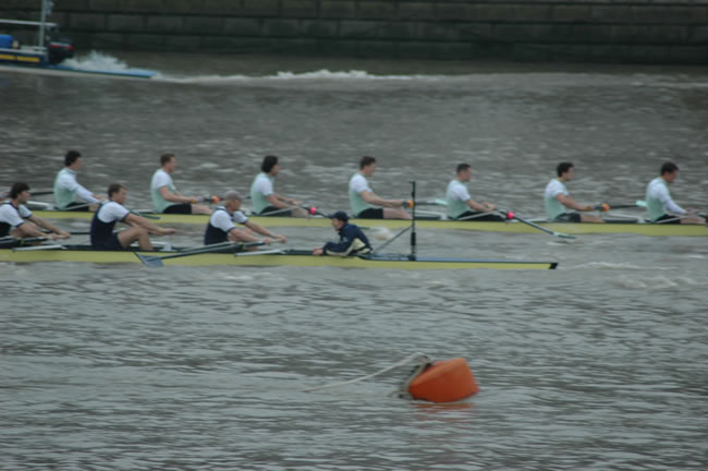 ...And thus, demoralising the Cambridge crew for the rest of the race.