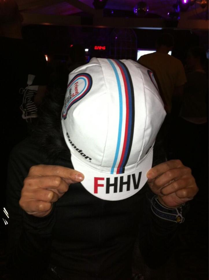 The Friends of Herne Hill Velodrome cap, £10. All proceeds were donated to the HHV for the regeneration of the velodrome.