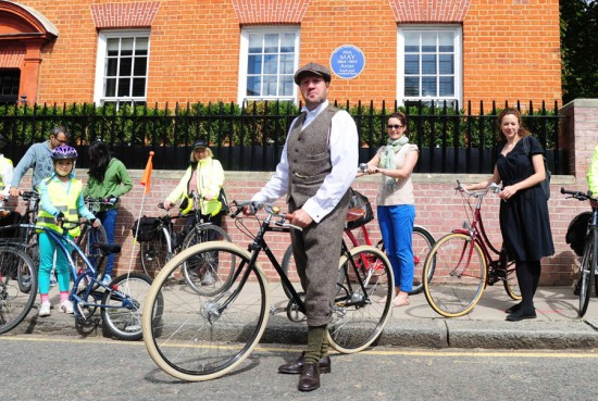 Blue Plaque Tour. Photo © Bikeminded