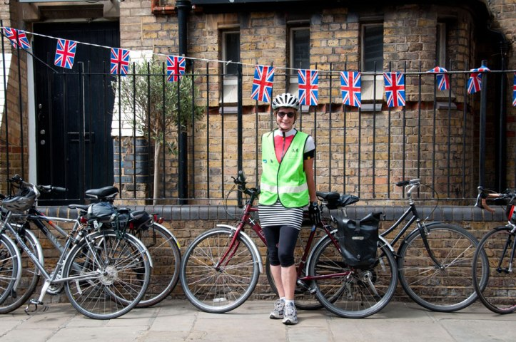One of the Bikeminded marshals looking after our bikes. Photo © Zarina Holmes / GLUE