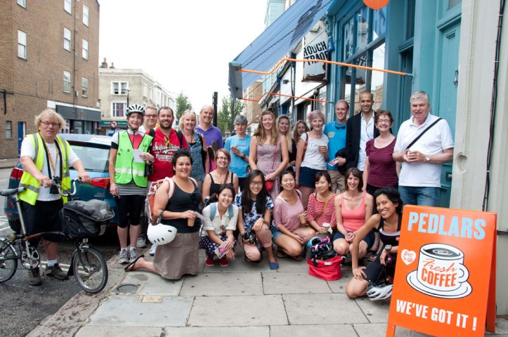 Group shot outside Pedlars. Happy days. Photo © Zarina Holmes / GLUE