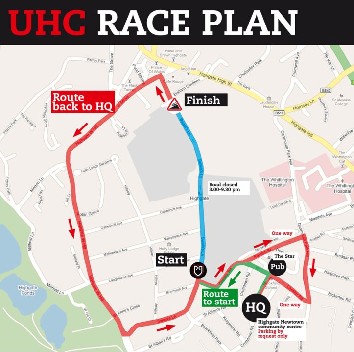 2013 race map. © Rollapaluza