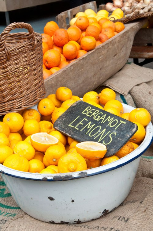 Treat yourself to some free colour therapy. Citrus fruits at Maltby Street Market in Bermondsey. Photo © Zarina Holmes / GLUE
