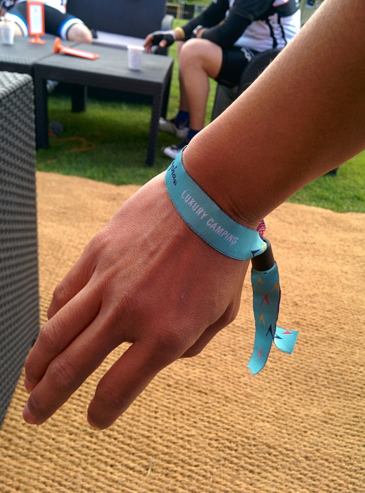 Well-designed festival wristband. Photo © Zarina Holmes