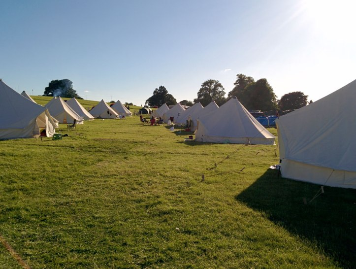 Our luxury campsite at Rapha Tempest. Photo © Zarina Holmes / GLUE