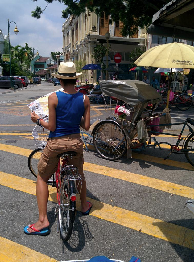 Find my way around Penang. Lycra doesn't work here. Photo: © Zarina Holmes / GLUE
