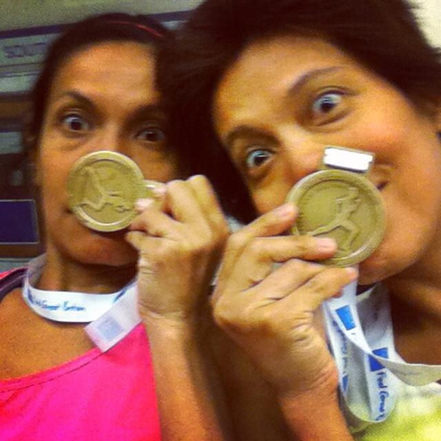 Medals for having fun. Might do the Westminster 1-Mile again. Selfie: © Salina Christmas/GLUE