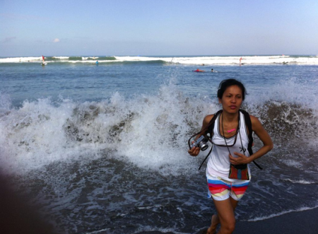 Being cased by the Indian Ocean. Bali changes my mind about what leisure pursuit means. Photo: ©Salina Christmas / GLUE